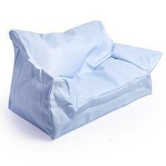 Cushy Couch Kids Blue 2 Seater Bean Bag Sofa 92 35