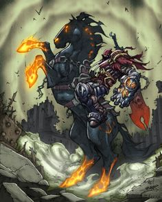 Darksiders Great story - game play is a bit of a learning curve.  Don't be fooled by the intro part, it gets deep into story mode soon ;P