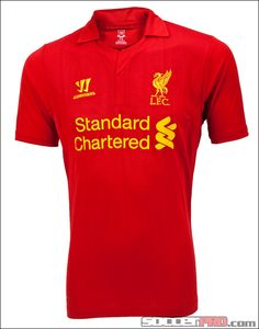 Warrior Youth Liverpool Home Jersey 2012-2013...$53.99