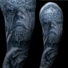 cathedral-face-morph-sleeve-tattoo-mancia