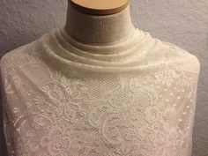 Polyester  Lace Fabric 1 3/8 Yards by FABULACE on Etsy, $5.25