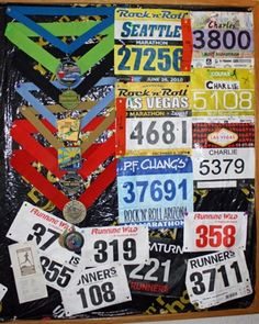 Fun idea!! I should sooo get mine started!!! :) im proud of my 1 medal and 2 bibs! I want to start doing more and get a wall full one day