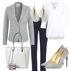 Greylover damen outfit - komplettes business outfit günstig kaufen Stylish Work Outfits, Fall Outfits For Work, Back To School Outfits, College Outfits, Dresses For Work, First Day Outfit, Outfit Of The Day, Komplette Outfits, Professional Attire