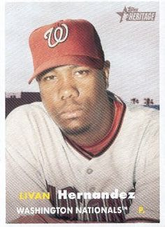2006 Topps Heritage Baseball #417 Livan Hernandez MLB Trading Card by Topps Heritage. $1.99. 2006 Topps Co. trading card in near mint/mint condition, authenticated by Topps Collectibles