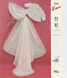 Emu 8512  Vintage Baby Shawl and Matinee by UKVintagePatterns