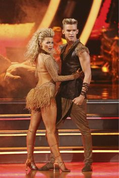 """Wk 5 - Cody & Witney danced Samba to """"I Just Can't Wait to Be King"""" from The Lion King Scored: 9+8+8+9=34"""