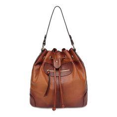 Analia Leather Bucket bag Backpack