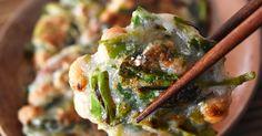 11/26話題入!感謝♪すりおろした長いもと納豆のモッチモッチおやき。混ぜてフライパンで焼くだけ簡単!おやつ、おつまみに