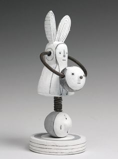 My Bunny wood sculpture by christinekaiser on Etsy