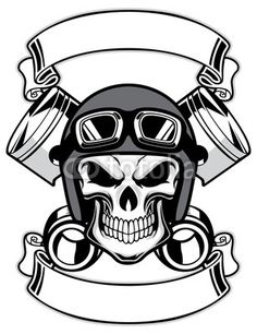 Skull Wearing Retro Motorbike Helmet Tattoo Design in Real Photo, Pictures, Images and Sketches – Tattoo Collections Logo D'art, Art Logo, Silkscreen, Helmet Tattoo, Skull Helmet, Biker Tattoos, Vintage Biker, Motorcycle Art, Motorcycle Clipart