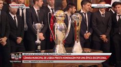 SPORTS And More: #Benfica 3 trophies on display at the Mayor of Lis...