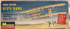 Monogram 1/40 Wright Brothers Kitty Hawk, PA30-98 plastic model kit
