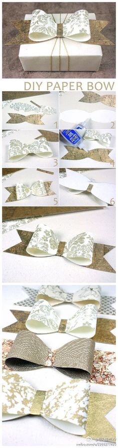 diy bow for wrapped gifts