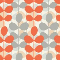 5 Retro Wallpapers That Take Your Home Back In Time: Back to the Sixties: Leaf Pattern Retro Wallpaper