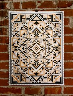 Geometric Handprinted Art Print by nateduval on Etsy, $40.00