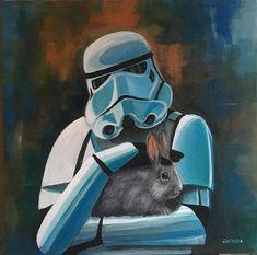 Stormtrooper's Pet by Lenka Zuckova  original acrylic
