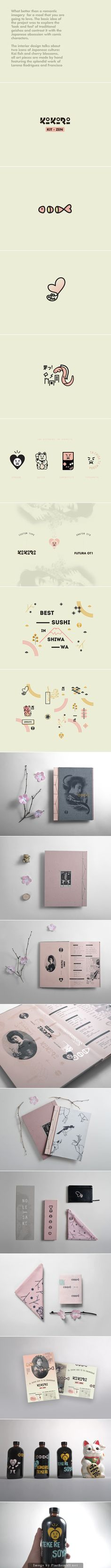 Lovely Japanese fusion identity packaging branding curated by packaging Diva PD
