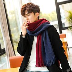 Fan Shop Clothing Accessories DIDIDD Double Color Thick Warm Winter Scarf Collar Men and Women Lovers