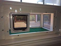 "Kitty Peeper Cat Window Patio-Catio-Solarium (Large Deluxe model) 24"" wide."