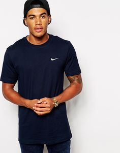 c525b14351506 Nike T-Shirt with Embroidered Swoosh at asos.com
