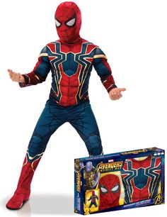 Super Hero Costumes, Boy Costumes, Infinity War, Easy Chalk Drawings, Superhero Costumes For Boys, Hot Toys Iron Man, Ninja Birthday Parties, Iron Spider, Kids Suits
