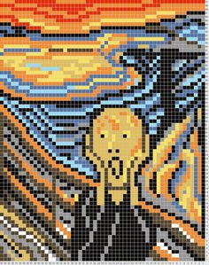 The Scream perler bead pattern