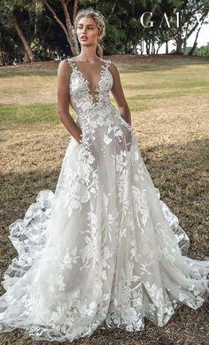 ff65b4fa3771 GALA Galia Lahav collection no. VII Fall 2019 Bridal // sleeveless thin  lace strap