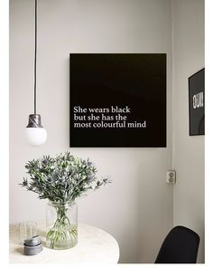 """Interior Design & Architecture (@homeadore) Instagramissa: """"SHE WEARS BLACK BUT SHE HAS THE MOST COLOURFUL MIND❤ Beautiful picture for your living room!😍 Our…"""""""
