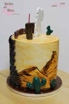 Tarta Lucky Luke para mi hija Berta - Lucky Luke cake to my daugther Berta www.tartasdelunallena.blogspot.com