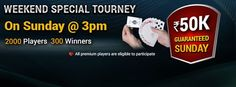 Weekend Special Tourney On Sunday @ 3pm at #classicrummy Play now >> https://www.classicrummy.com/mega-rummy-tournaments?link_name=CR-12