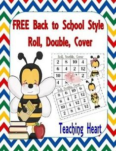 Free! Bee Doubles Dice Game for Back To School