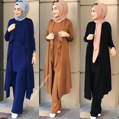 hich color is your favorite?? #hijabs_inspirations  Follow  @hijabs_inspirations @mumofbabies @lakiantii ➖ ➖ ➖ ➖ ➖ ➖ ➖ ➖  #hijabvideo Hijab Gown, Hijab Style Dress, Hijab Outfit, Muslim Women Fashion, Islamic Fashion, Abaya Fashion, Fashion Outfits, Modele Hijab, Stylish Hijab