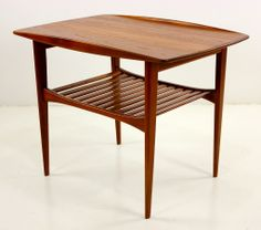 Danish Modern Solid Teak Tables by Edward & Tova Kindt Larsen | From a unique collection of antique and modern end tables at http://www.1stdibs.com/furniture/tables/end-tables/
