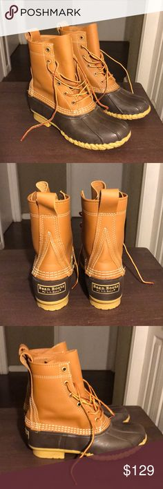 L.L. Bean Duck Boots Brand new without tags. L.L. Bean boots size 7 in tan/brown L.L. Bean Shoes Winter & Rain Boots