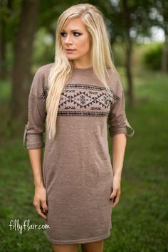 The Way You Are Knit Dress in Mocha