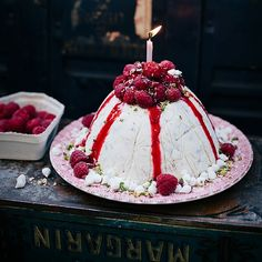 Ice Cream with Raspberry....For more info, Please visit: https://cakerschool.com/
