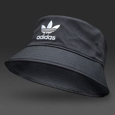 adidas Originals Bucket Hat AC - Black   White Estilo De Foto 1cc3f33856d