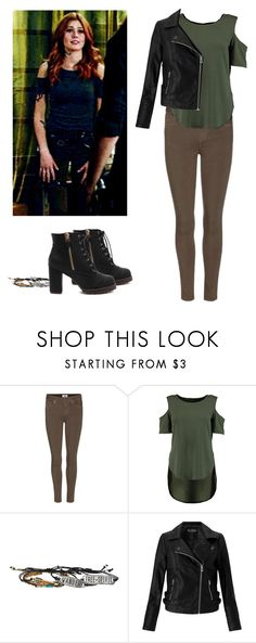 """""""Clary Fray - shadowhunters"""" by shadyannon ❤ liked on Polyvore featuring Paige Denim, Hot Topic and Miss Selfridge"""