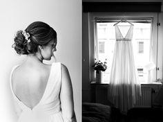 Wedding photographer Sanna Dolck. Malmö, Sweden. Wedding portraits. Bröllop. Wedding. Bride, black and white, wedding dress.