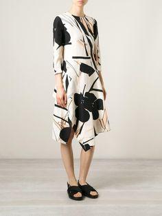 Asymmetric print dress from Marni, worn by Lucy Liu on Elementary. Love the print!