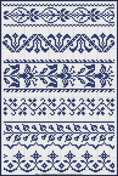 Cross Stitch for Fair Isle Knitting: Free Easy Cross, Pattern Maker, PCStitch Charts + Free Historic Old Pattern Books: PCStitch Cross Stitch Borders, Cross Stitch Samplers, Cross Stitch Charts, Cross Stitch Designs, Cross Stitching, Cross Stitch Embroidery, Embroidery Patterns, Cross Stitch Patterns, Floral Embroidery