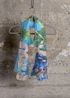 Cashmere Silk Scarf - Antique Roses by VIDA VIDA whWv2BC