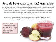 Suco de beterraba com maçã e gengibre | NutriDicas