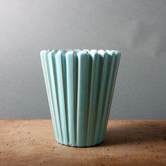 vase eslau denmark danish raku turquoise blue studio pottery large scandinavian