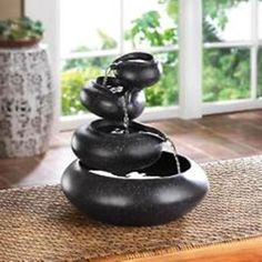 Four Granite Tier Tabletop Fountain