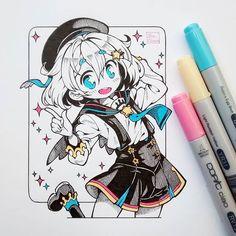 Pairy, my OC ---> #pairyocbyibu_chuan Ayer me fue súper bien, por fin compré hojas para copics y algunos lápices y copics Ah, pero este dibujo lo hice en una hoja normal, empezaré a practicar a ver que tal me va con los materiales nuevos. ^^ #originalcharacter #traditional #ink #manga #anime #moe #kawaii #cute #copicciao #stars