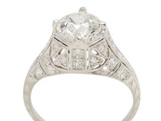 Splendid Diamond Platinum Ring of 1.67 carats - The Three Graces