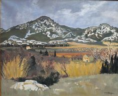 blastedheath:  Yves Brayer (French, 1907-1990), Ciel menaçant sur la plaine des Baux [Threatening sky over the plain of Les Baux], 1958. Oil...