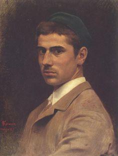 Telemaco Signorini, youthful self-portrait