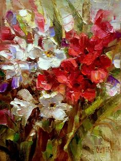 Oleanders From Betty, painting by artist Julie Ford Oliver